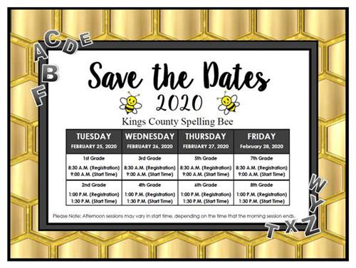 2020 Save the Dates