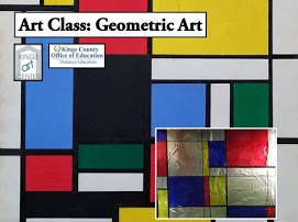 Art class: Geometric Art. Kings art center. Kings County Office of Education Distance Education. Geometric painting