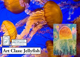 kings art center kings county office of education. Art Class: Jellyfish. Jellyfish in ocean. Jellyfish painting