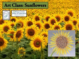 Art class: Sunflowers. Kings art center. Kings County Office of Education Distance Education. Sunflower field.