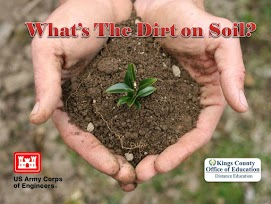 What's the Dirt on Soil? Hand holding dirt and a small plant